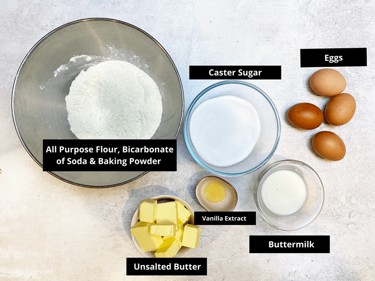 Butter Cake Ingredients