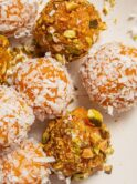 Apricot Truffles with Pistachio and Coconut