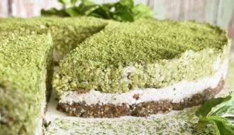 Coconut Mint Matcha Cake